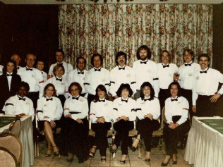 Show biz Crew on New Year's Eve at the Four Seasons - 1981